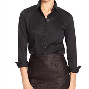 NWT Banana Republic Non-Iron Fitted Shirt (black)